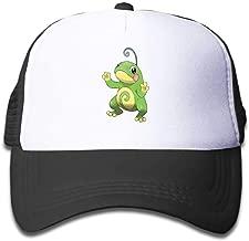 MWHprint Youth Adjustable Mesh Hats Baseball Trucker Cap for Boys and Girls, Pokemon Politoed, Black, Sky Blue, Pink