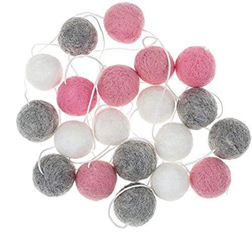 Pompones de pompones de 2 m para manualidades y manualidades hechas a mano para el hogar, guardería, cumpleaños, boda, fiesta, diciembre