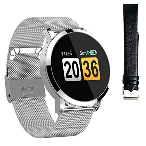 2021 Smart Watch Ladies, Bluetooth Impermeable Heart Rate Monitor Ladies Watch Sports Fitness Tracker Hombres Smartwatch para Android iOS,N