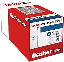 fischer 75 x Spaanplaatschroef Power-Fast II 4,0x50, verzonken kop met kruiskop Gedeeltelijk verzinkt verzinkt, blauw gepa...