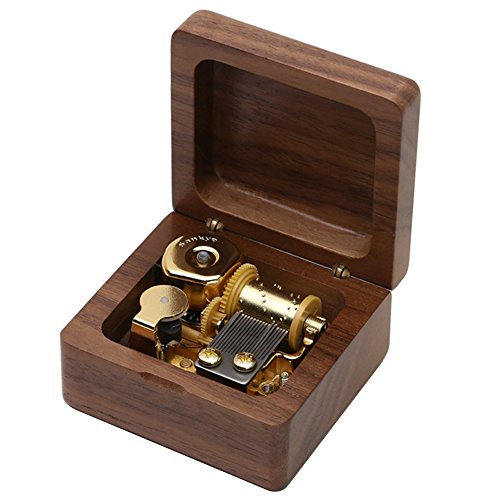 Kicat Christmas Music Box Music Box in Legno Boutique Regalo di Compleanno Creativo (002: Carillon di Noce, -B: Spirited Away)