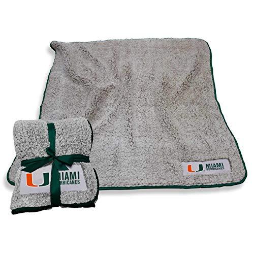 Logo Miami Hurricanes NCAA Frosty Fleece 60 X 50 Blanket - Team Color