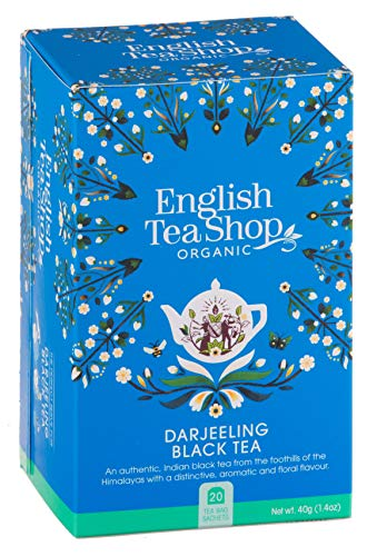 English Tea Shop Tè Nero Biologico Darjeeling Made in Sri Lanka - 1 x 20 Bustine di Tè (40 Grammi)