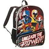 Accessory Innovations Power Rangers Unleash The Power 16 Backpack Bookbag, Black, Large