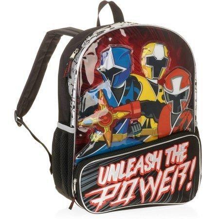 Accessory Innovations Power Rangers Unleash The Power 16 Backpack Bookbag, Black, Large