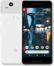 Pixel 2 Phone (2017) by Google, G011A 64GB 5in inch Factory Unlocked Android 4G/LTE Smartphone (Clearly White) - International Version (Renewed)