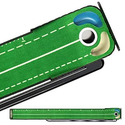 Champkey Hazard-PRO Golf Putting Mat?1.25' x 10'? ?2 Speeds Golf Putting Green Mat?Advanced Guides with Ball Bumpers Golf Practice Mat Ideal for Putting Training