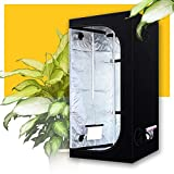 ZXD Interior Armarios De Cultivo, Mylar Reflectante Caja Oscura Creciente, con Ventana De Observación Y Bandeja De Piso Impermeable, para Plantas De Hortalizas (Size : 100x100x120cm/40 x40 x48)