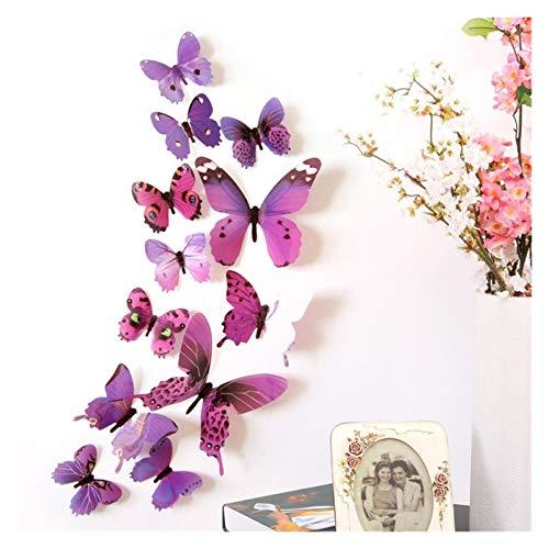 Butterfly Wandaufkleber 3D Bunte Schmetterling Wandaufkleber Schlafzimmer Schmetterling Wanddekorationen DIY Kunst Dekor Handwerk Wandtattoos für Home Schlafzimmer Party Hochzeit Geburtstag Dekoration
