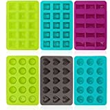 com-four 6x Silikon-Form für Pralinen - Pralinenformen für je 15 Pralinen oder Eiswürfel -...