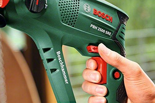 Bosch PBH 2500 SRE Martello Elettropneumatico Universal + Bosch 2607019455 Set Misto, 5 Pezzi, Scalpelli e Punte, SDS-Plus
