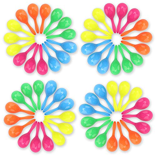 Amy & Benton Mini Maracas Toys 72PCS Noisemakers Party Favors Kids Pinata Filler Classroom Prizes Party Bag Fillers 2.75 Inches