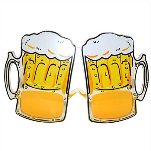LUOEM Gafas divertidas de cerveza para decoración de fiestas