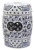 Safavieh Tao Ceramic Decorative Garden Stool, Blue and White
