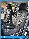 Fundas de asiento compatibles con Toyota Avensis T27 conductor y pasajero a partir de 2008 – 2018 FB:115