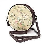 Bandolera para mujer, bolso lateral para vacaciones, viajes, verano, moda, círculo, estilo shabby chic, vintage, flores