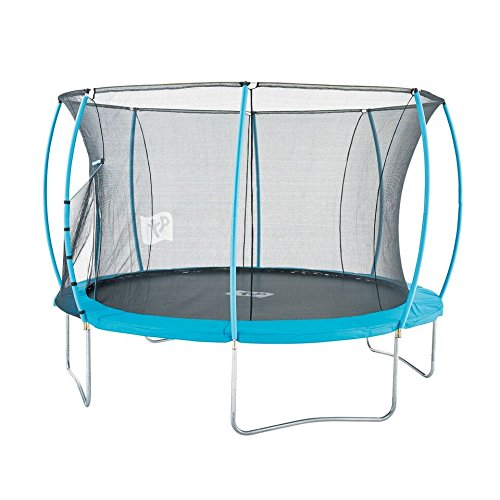 TP Toys 12ft Hip Hop Trampoline Round Shape With Patented IGLOO Door Entry Zip Free Crawl Through Tunnel Ages 6 Years+ Colour Blue