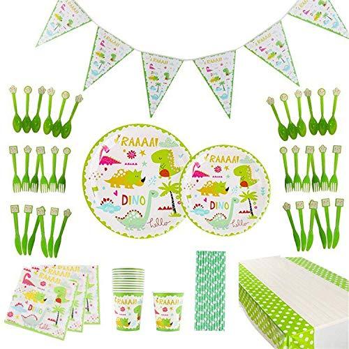 thematys® Decoración de Fiesta Vajilla de cumpleaños Happy Birthday en 3 diseños...