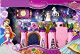 Stock Port Battery Operated My Dream Beauty Castle Play Set Music and Beautiful Lights, Barbie House, Doll House (Multicolor)
