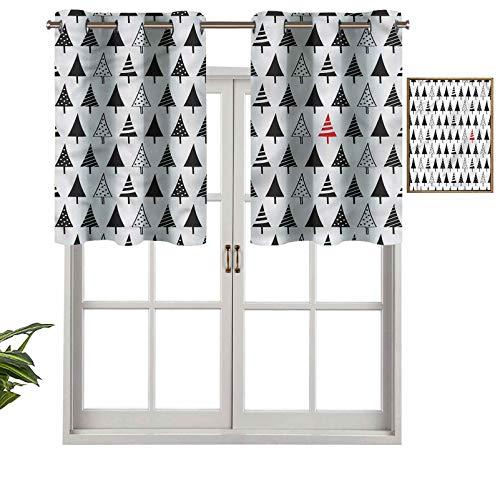 Hiiiman Cenefa recta de cortina con ojales de alta calidad, triángulo de pino, juego de 2, 42 x 24 pulgadas, ideal para cualquier habitación y dormitorio