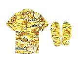 Hawaii Hangover Hombres Que emparejan el Equipo Hawaiano de Luau Camisa Aloha y Chanclas en...