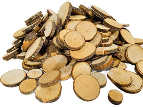 BUSDUGA Naturholzscheiben zum basteln, ca. 300Teile (1kg)