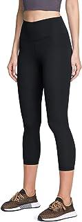 ATIKA Women's High Waist Yoga Capri Pants with Pockets, 4 Way Stretch Tummy Control Capri Leggings Tights
