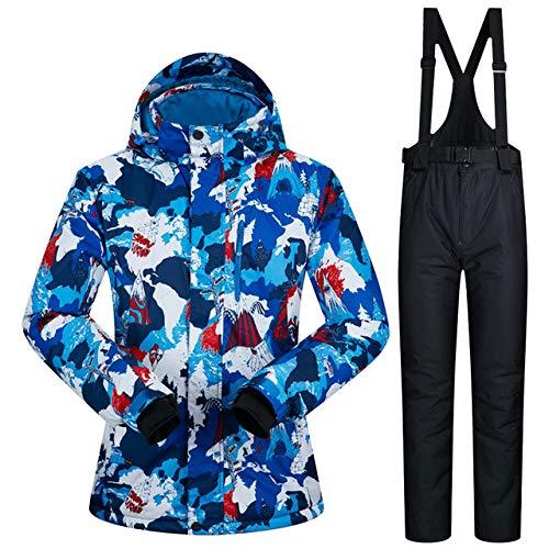 MEOBHI Combinaison de Ski Nouveauté Combinaison de Ski Homme Hiver Imperméable Coupe-Vent Ski et Snowboard Combinaisons Hiver Sports de Plein air Snow Warm Ski Jacket Men, XRM02 Noir, M