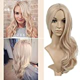 Lady Miranda Blonde Mixd Ash Blonde Wig High Density Heat Resistant Synthetic Hair Weave Full Wigs...