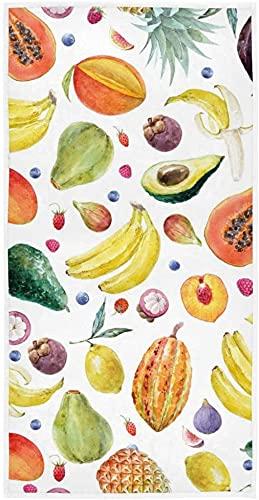 Weiche Handtücher, Obst Ananas Banane Papaya sehr saugfähig Handtücher für Badezimmer