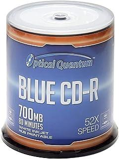 Optical Quantum CD-R 700MB 52X White Inkjet Hub Printable Recordable Media Disc - 100pk Spindle OQCD52BWIPH-BX