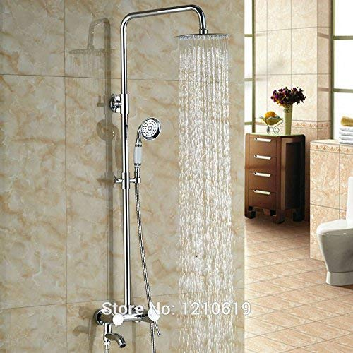 Check Out This Gulakey Faucet Newly 8 Rainfall Shower Set Faucet Chrome Finished Bathroom Shower Mi...