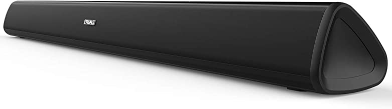 Soundbar,SAKOBS TV Sound bar with Wired & Wireless Bluetooth 4.2 Speaker and Wall Mount,Three Equalizer Mode Audio Speaker for Home Theater, Optical/Aux/RCA Connection, Remote Control