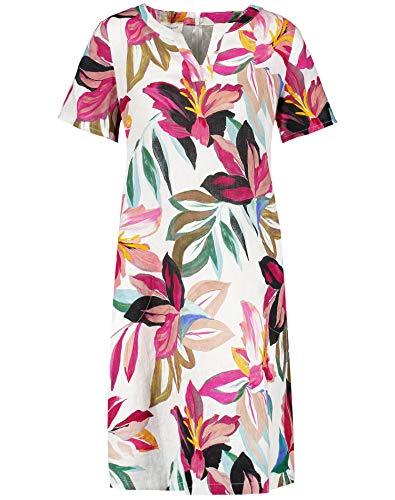 Gerry Weber Womens 380048 Dress, Ecru/Weiss/Lila/Pink Mult, 40