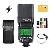 Godox TT685F 2.4G Inalámbrica Transmisión HSS 1/8000s GN60 para Fuji X-Pro1 x-t20 x-t2 x-t10 X-T1 X-Pro1 X-E1 x-a3 X100 F X100T Camara + 12 Tipos Color Filtrar Kit+Letwing Paño(TT685F)