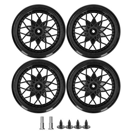 Neumáticos de coche con mando a distancia Rueda de malla suave y estable Fácil de instalar, para entrenamiento de competición, para trail(black)