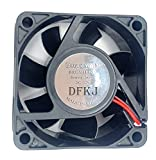 Dfroymalz (1PCS) Sleeve DC Brushless Cooler Cooling Fan 60mm x60mm x 25mm 6025fan 12V XH2.54-2Pin Computer, Server, Inverter, Inverter, CPU Cooler, Ventilation and Exhaust Project, Cooling Fan