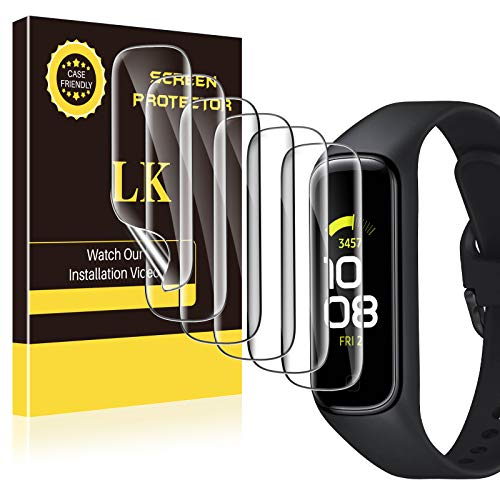 6 Pack LK Screen Protector for Samsung Galaxy Fit 2, Max Coverage, Self-Healing, Bubble Free, HD Clarity Flexible TPU Film