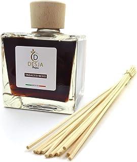 Profumatore ambiente completo di bastoncini 500 ml Profumazione Tabacco nero diffusore profumo con confezione