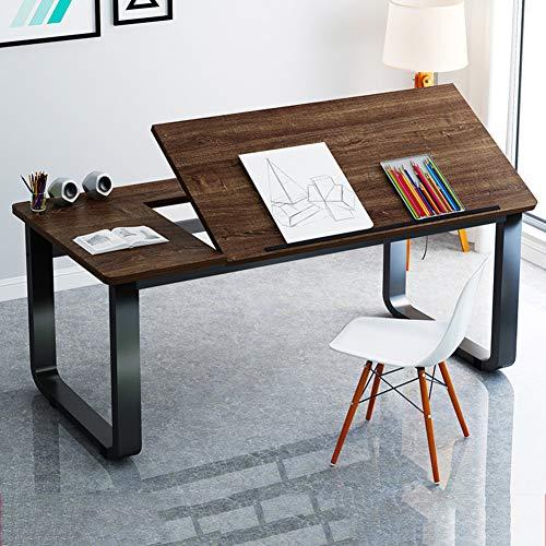 LUXDAMAI Redacción Table,tiltable Mesas para Ordenador,Grande Dibujo Escritorio VersÁtil Simple Estación De Trabajo para La Oficina Inicio Pintura-a 140x60x73cm(55x24x29in)