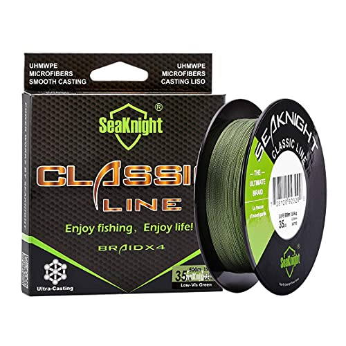 SeaKnight Classic 4 brins Tresse Fil de Peche 300M 500M Ligne Tresse, Plus forts et Plus Lisse Ligne de pêche 6–80LB