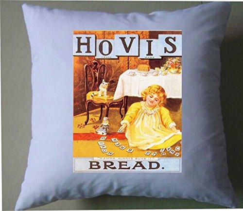 Hovis mamma koopt altijd brood retro shabby chic kussen cover