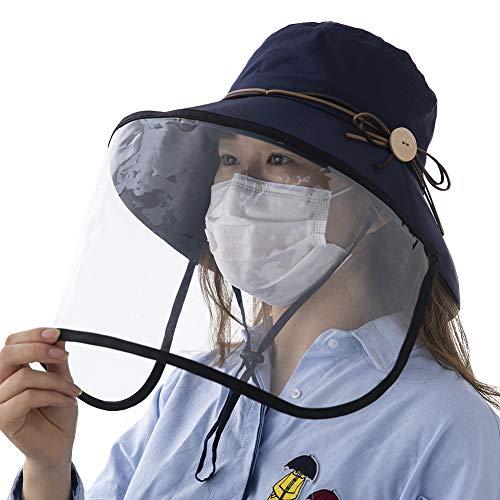 Comhats Multifunktionaler Mundschutz Gesichtsschutz Faltbarer Sonnenhut Abnehmbarer Schild Damen