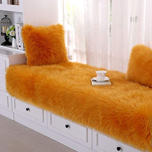 ZTMN Lange Plush Bay vensterbank mat kussen, zacht fluweel zwevende venster pad Sofa slipcover kussen anti-slip mat tatami vloermatten G 60x210cm (24x83inch)