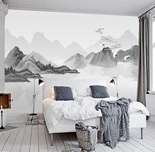 Paisaje blanco y negro TV fondo de pantalla splash tinta paisaje fondo de pantalla chino