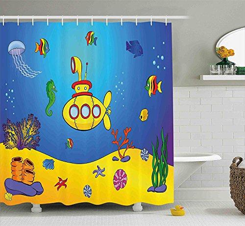 Nyngei de desubmarina Amarilla Niños náuticos Peces Coloridos Medusas submarinas Caballitode mar Conchas de estrellasde mar de con Azul Amarillo