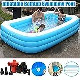 MZYKA Kinder Aufblasbares Schwimmen Wasser Pool, verdickte Erwachsene Haushalt Folding Badewanne,...