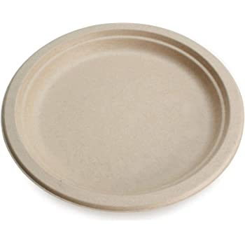 "Earth's Natural Alternative ECOP013pk50 Eco-Friendly, Compostable Plant Fiber 9"" Plate, 50 Count"