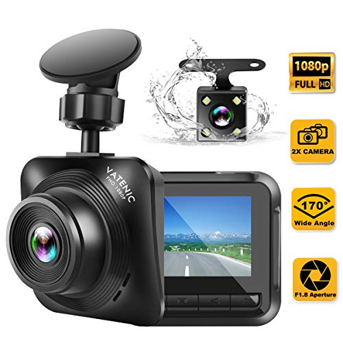 Dash Cam Car Camera Recorder FHD 1080P Front and Rear Cameras,Driving...