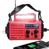 5000mAh Emergency Solar Hand Crank Battery Powered Portable AM/FM/SW/NOAA Weather Alert Radio, Flashlight, Reading Light, Cellphone Power Bank Charger, SOS, Headphone Jack, Best Survival Camping Gear